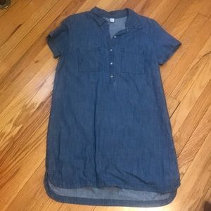 Old Navy jean dress/tunic, short sleeve, 2 pockets